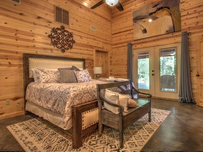 Photo for LA ROCA-Luxury Modern Couples Cabin, Sleeps 4,  Hot Tub, Smart TV, Boat Parking