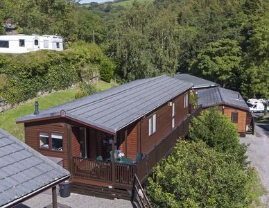 Photo for Two bedroom lodge within walking distance of Lynton Centre.  Free fishing onsite