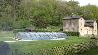 Photo for Secluded gite in the grounds of a chateau with private fishing