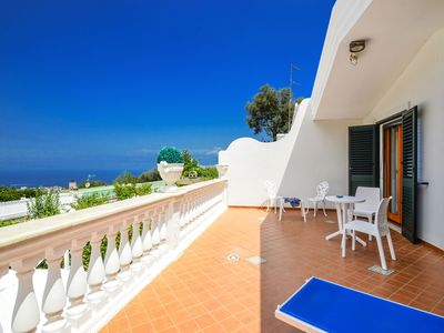 Photo for Sea view villa with private swimming pool and parking