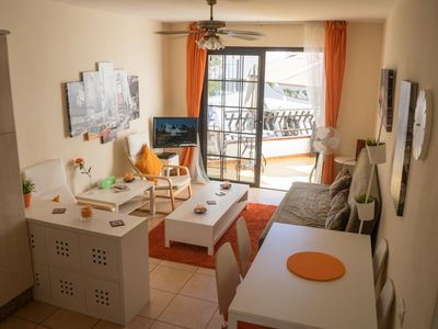 Photo for Club Tenerife Los Diamante 1 Bed Lovely Apartment Balcony Seaview Los Cristianos