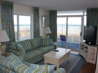 Photo for Newly Renovated Direct Oceanfront 3BR/2BA Condo With Large Wrap Around Balcony!