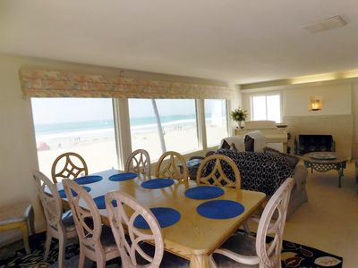 ocean view dining room and living room