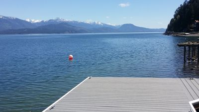 Photo for Waterfront House On Camp Bay, near Sandpoint,  with Dock and swimming area.