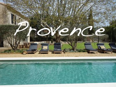 Photo for SAINT REMY DE PROVENCE LUXURY village house with air conditioning heated pool garden