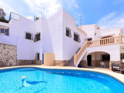 Photo for 6 bedroom Villa, sleeps 12 in Javea with Pool and WiFi