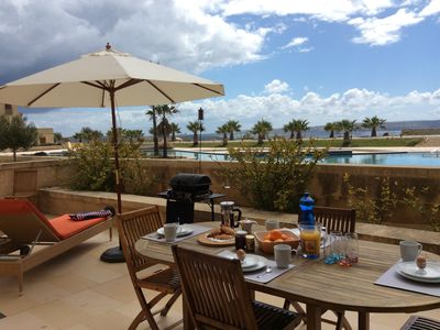 Photo for Seaview and swimming pool private terrace apartment