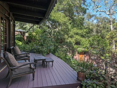 The privacy of the back deck gives Creekside Haven a tranquil feel.