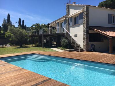 Photo for Cavalaire. House in quiet park 500 meters from the beach