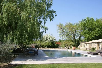 Salted wwimming-pool heated from May to September
