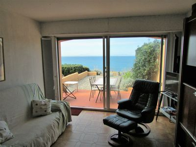 Photo for HOUSE SEA VIEW 6 PERS / 3 BEDROOM BEACH IMMEDIATE ACCESS TERRACES AND GARAGE