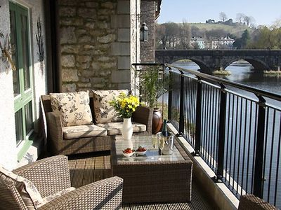 Private balcony with view of Kendal Castle
