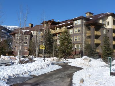 Photo for FLAGSHIP PANORAMA CONDO 2 bed 2 bath ski in/out Upper Village clean fee INC