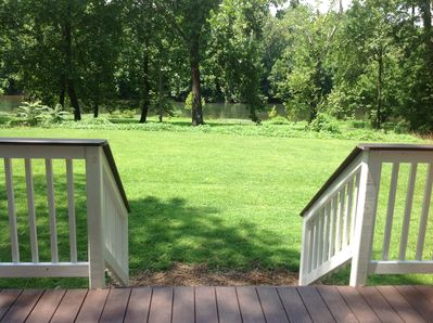 View of Yard and River From Deck