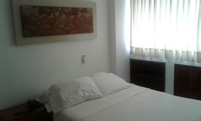 Photo for Two bedroom apartment overlooking the sea, excellent location a few meters from the beach