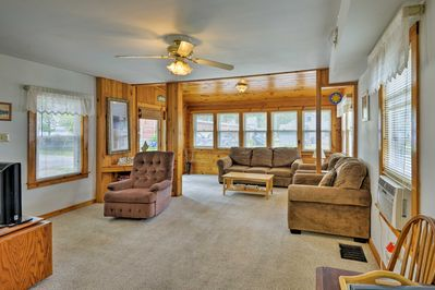 With 2 bedrooms and 2 baths, this home can sleep 6.