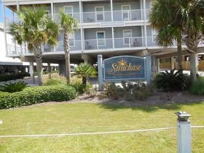 Sunchase is 1 1/2 miles from main intersection, easy walking to restaurants,ect