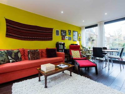 Photo for Colourful 2 bedroom home, close to the tube & leafy Hampstead Heath (Veeve)