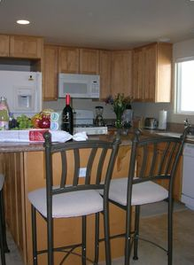 Open kitchen set-up allows the cook to enjoy with the rest!