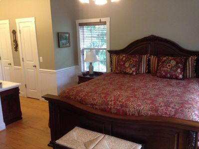 Master Bedroom, king bed with private bath