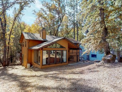 Photo for NEW LISTING! Home w/ private hot tub & fireplace - walk to beach, 2 dogs OK!