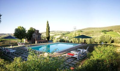 Photo for Four Bedroom Detached Villa San Gimignano   The Villa is the perfect example of a Tuscan country villa,