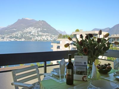 Photo for Apartment App. Paradiso in Lugano - 5 persons, 2 bedrooms