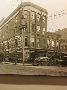 Knoxville 1910, Your unit is second floor facing Market Square in front