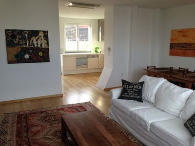 Photo for Dachterrassen City Apartment with air conditioning View of the Danube