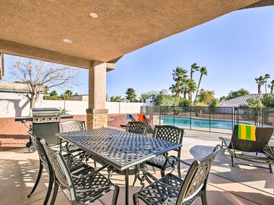 Photo for Updated Las Vegas House w/Patio, Solar Heated Pool