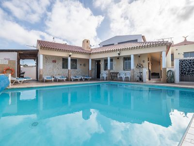 "Photo for Beautiful villa ""Highbury Grove"" with pool and garden. Disabled friendly. Wifi available."