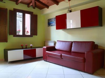 Photo for Sacchero apartment in Catania with WiFi, integrated air conditioning & private roof terrace.