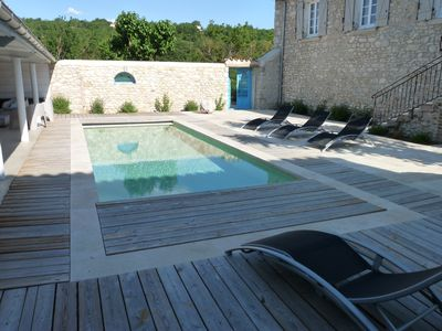 Photo for Mas of Picholines 320 m2 with heated pool