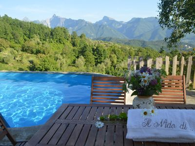 Photo for wonderful chalets in the unspoiled nature of north Tuscany, private pool & SPA