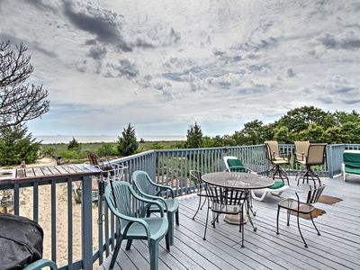 Photo for Beachfront Slaughter Beach Chalet w/ Large Deck!