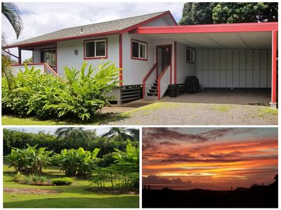 Photo for Cute cottage, Ocean Views, A/C, Quiet & Private. Near Road to Hana.