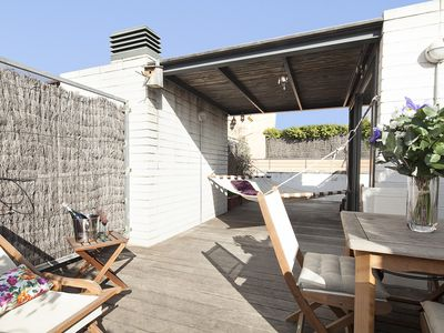 Photo for Penthouse in Gràcia, BCN, WIFI, terrace, A / C: SPECIAL OFFER! FREE WIFI