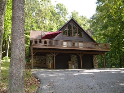 Photo for NEW LISTING!  The Nook at Nature's Harmony.  Hot Tub, wi-fi, multiple decks