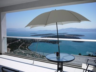 Photo for Contemporary designer penthouse on the Aegean Sea with breath taking views