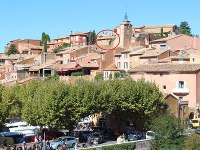 Photo for Beautiful 250 year old Village House in centre of Roussillon with stunning views