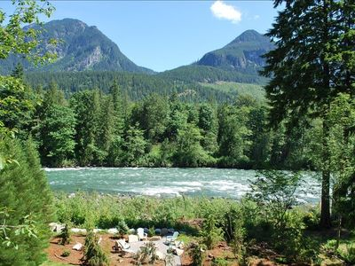 Photo for Stunning Riverfront Lodge with Mountain View Near Stevens Pass