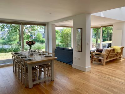 Photo for Detached, lakeside, sleeps 8, contemporary open plan living/dining, luxury spa