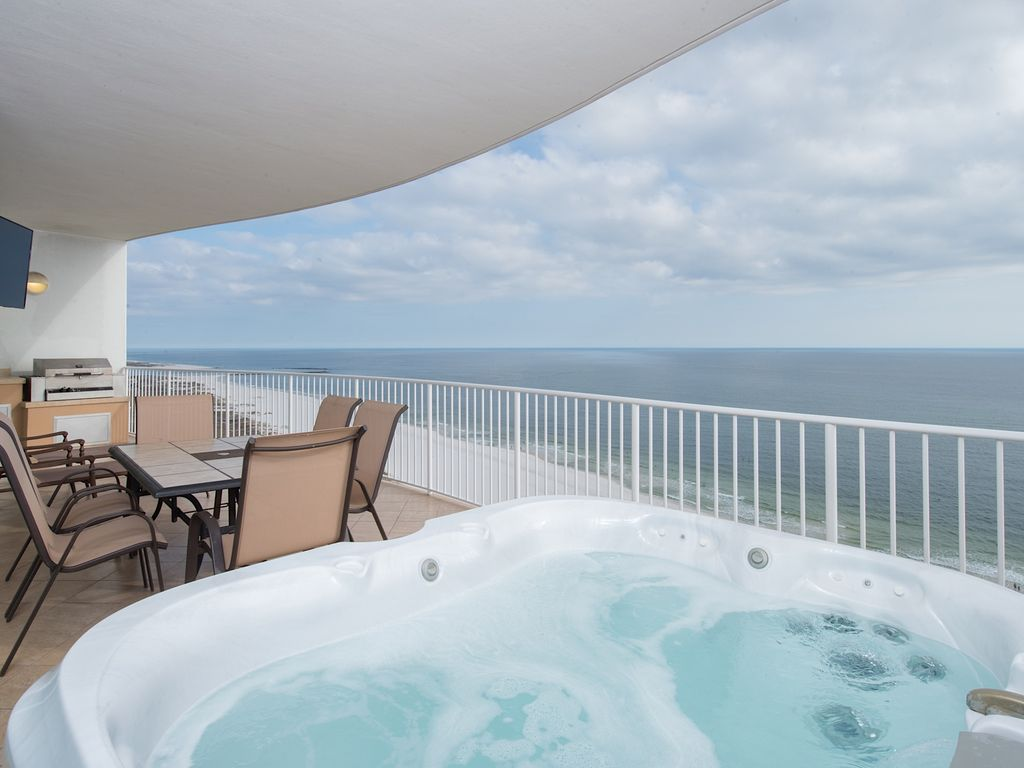 Turquoise Place in OBA  Private Hot Tub Grill  17th fl views. BOOK NOW for 2018  Turquoise Place in OBA        VRBO