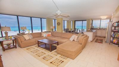 Family Room with great Gulf views when walking into the condo