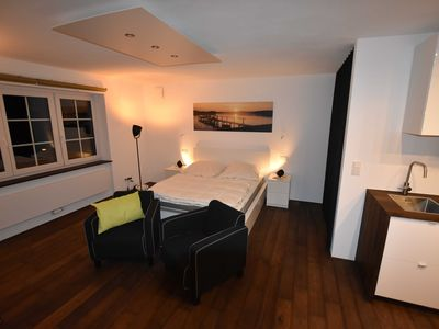 Photo for Chic furnished 45sqm apartment with balcony in country house villa near Chiemsee