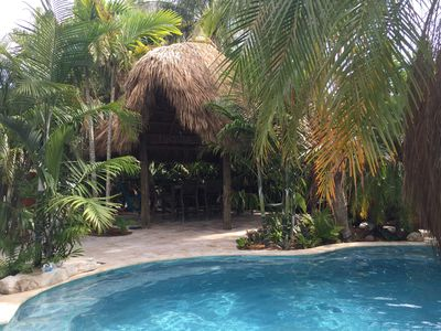 Photo for TROPICAL PARADISE CANAL FRONT STUDIO~ POOL, SPA & TIKI HUT~ BRING YOUR BOAT!