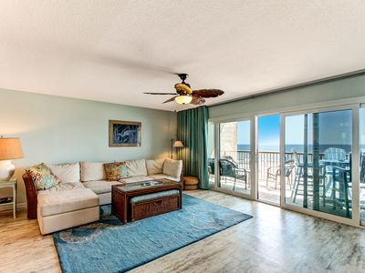 Photo for Top floor, newly remodeled condo with AWESOME VIEW, POOL, TENNIS, FISHING PIER