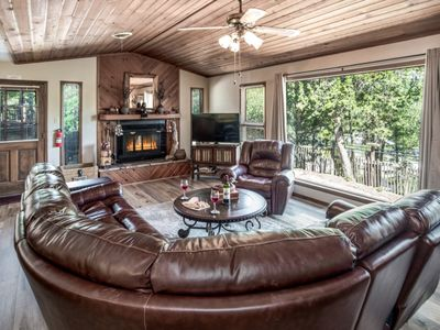 Photo for Cabin near Downtown w/ WiFi, Fireplace, Grill, Big Screen TV & Conservation View