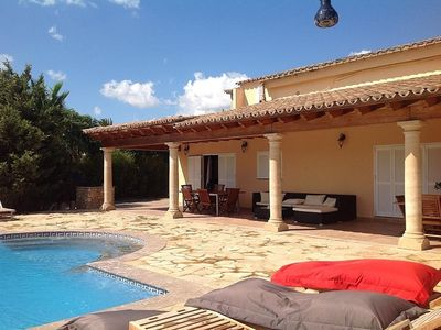Photo for Typical Majorcan Villa, Luxuriously Renovated, Private Pool, Lawns, Fruit Trees.