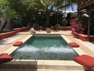 Private Pool with Jets (not heated) Gets nice and warm around  March 23rd